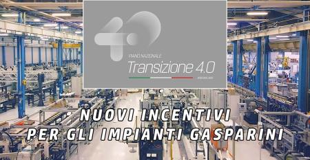 Nuovi incentivi per gli impianti Gasparini